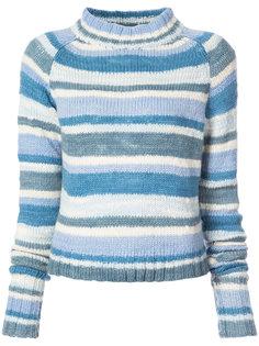 полосатый свитер с высоким воротом The Elder Statesman