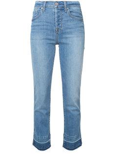 прямые укороченные джинсы с завышенной талией 7 For All Mankind