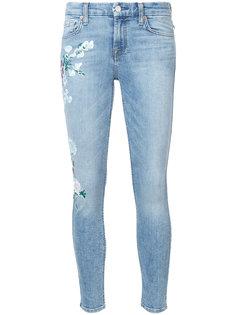 облегающие джинсы с нарисованными вручную цветами 7 For All Mankind