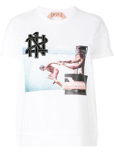 футболка с заплатками Nº21