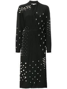 декорированное длинное платье  Stella McCartney