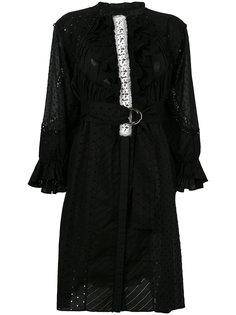 платье с простроченной отделкой и рюшами Tsumori Chisato