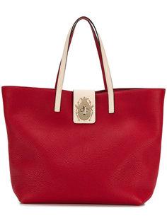 большая сумка-тоут с поворачивающимся замком Red Valentino