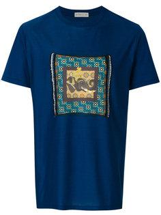 футболка с нашивкой  Etro