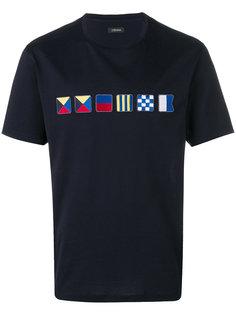 футболка с аппликацией Z Zegna