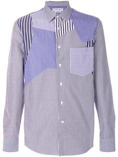 рубашка в полоску с панельным дизайном Alexander McQueen