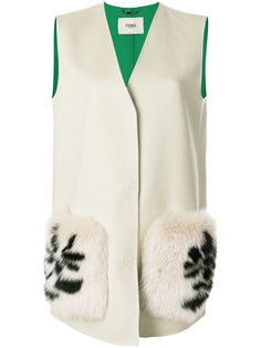 жилетка с крупными карманами Fendi