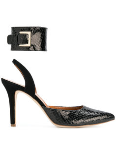 туфли-лодочки с эффектом змеиной кожи Via Roma 15