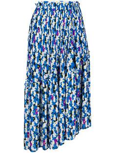плиссированная юбка с цветочным принтом  Kenzo