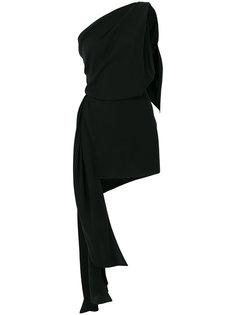 драпированное мини-платье на одно плечо Saint Laurent