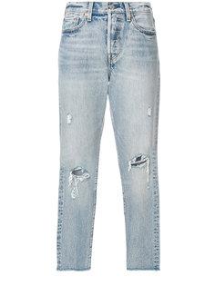 укороченные джинсы с рваной отделкой Levis Levis®
