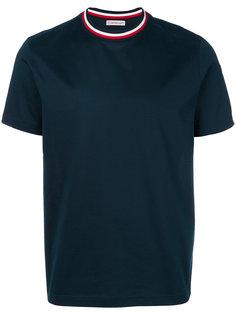футболка с контрастным воротником Moncler