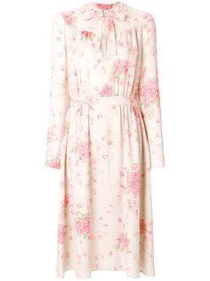 платье с принтом роз Valentino