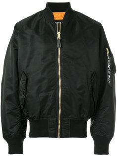классическая куртка-бомбер на молнии  Marcelo Burlon County Of Milan