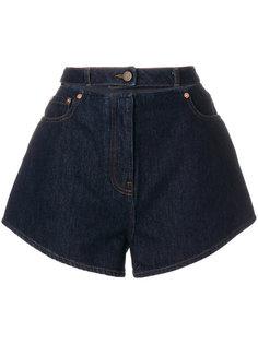 джинсовые шорты с вышивкой Valentino