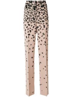 брюки с принтом бабочек Bottega Veneta Eyewear