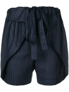 полосатые шелковые шорты  Stella McCartney