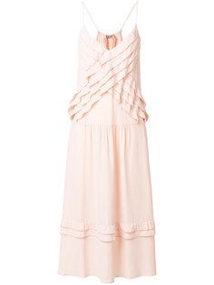 платье с оборками на бретельках Nº21