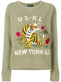 свитер с вышивкой тигра Polo Ralph Lauren