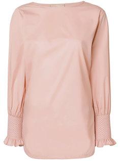 блузка с присборенными манжетами  Erika Cavallini