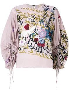 блузка с цветочным принтом  Erika Cavallini