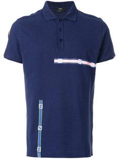 рубашка-поло с контрастной отделкой Fendi