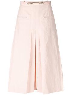 юбка-миди с плиссировкой Carven