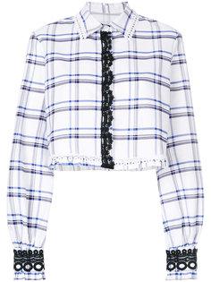 укороченная рубашка с клетчатым узором MSGM