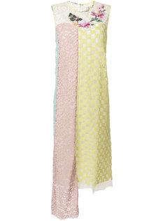 асимметричное платье в стиле пэчворк  Antonio Marras