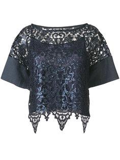 кружевная укороченная блузка  Antonio Marras