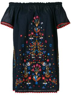 пляжное платье с цветочной вышивкой Tory Burch