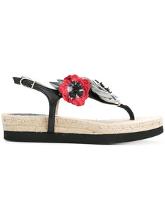 сандалии с аппликацией в форме цветов Sonia Rykiel