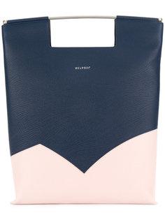 сумка-тоут дизайна колор-блок Delpozo