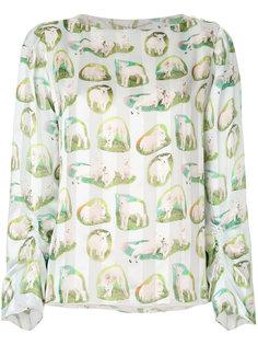 блузка с ягнятами Carven
