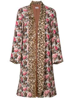 пальто с цветочным принтом Alberto Biani