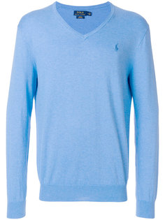 тонкий свитер с V-образным вырезом  Polo Ralph Lauren