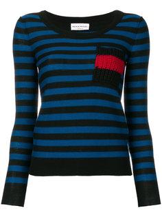 свитер с карманом в полоску  Sonia Rykiel