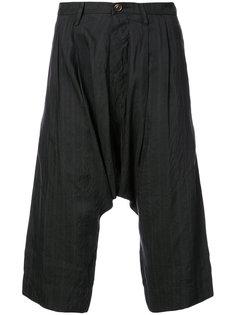 полосатые брюки с заниженным шаговым швом Ziggy Chen