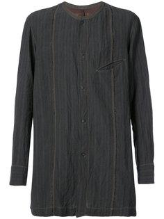 полосатая рубашка без воротника Ziggy Chen