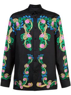 рубашка с цветочными мотивами Versace