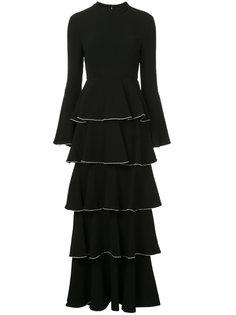 длинное платье с ярусами оборок Rachel Zoe