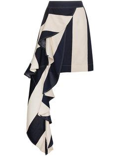 асимметричная мини-юбка с драпированной деталью Calvin Klein 205W39nyc
