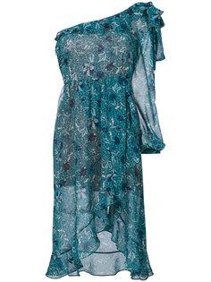 асимметричное платье с рюшами For Love And Lemons