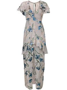платье с рюшами и цветочным принтом For Love And Lemons
