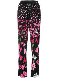 брюки с принтом бабочек Cavalli Class