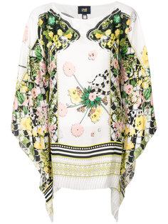блузка с цветочным принтом Cavalli Class