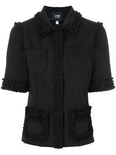 пиджак с рюшами и короткими рукавами Cavalli Class