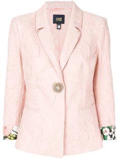 фактурный пиджак с подвернутыми рукавами Cavalli Class