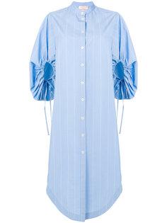 платье-рубашка с буффами на рукавах Erika Cavallini