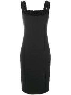 приталенное платье без рукавов  Cavalli Class